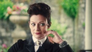 Missy is evidently modeled on Possessed Tegan from 'Snakedance""